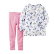 Carter's® Long-Sleeve Butterfly Top and Leggings Set - Baby Girls newborn-24m