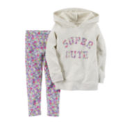 Carter's® Long-Sleeve Hoodie and Leggings Set - Baby Girls newborn-24m