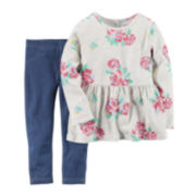 Carter's® Long-Sleeve Top and Jeggings Set - Baby Girls newborn-24m