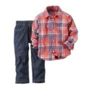 Carter's® Long-Sleeve Shirt and Pants Set - Baby Boys newborn-24m