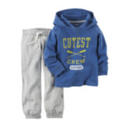 Carter's® Long-Sleeve Hoodie and Pants Set - Baby Boys newborn-24m