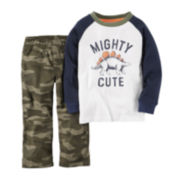 Carter's® Long-Sleeve Tee and Pants Set - Baby Boys newborn-24m