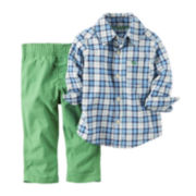 Carter's® Long-Sleeve Plaid Shirt and Pants Set - Baby Boys newborn-24m