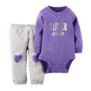 Carter's® Long-Sleeve Bodysuit and Pants Set - Baby Girls newborn-24m