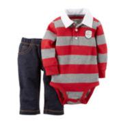 Carter's® Long-Sleeve Rugby Bodysuit Set - Baby Boys newborn-24m