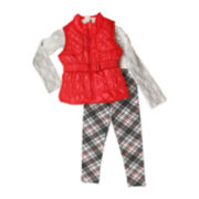 Nanette Baby Top, Vest and Leggings Set - Toddler Girls 2t-4t
