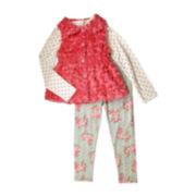 Nanette Baby Top, Vest and Leggings - Preschool Girls 4-6x