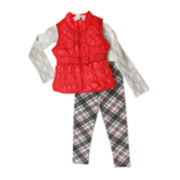 Nanette Baby Top, Vest and Leggings Set - Preschool Girls 4-6x