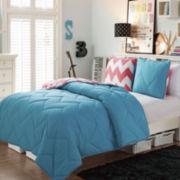 Victoria Classics Juniper Chevron 3-pc. Reversible Comforter Set