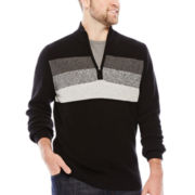 IZOD® Chest-Striped Quarter-Zip Sweater - Big & Tall