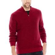 IZOD® Quarter-Zip Marled Shaker Sweater - Big & Tall