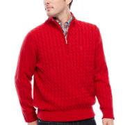 IZOD® Quarter-Zip Cable-Knit Sweater - Big & Tall