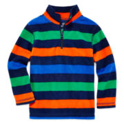 Okie Dokie® Quarter-Zip Fleece Pullover - Toddler Boys 2t-5t