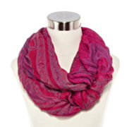 Pleated Paisley Loop Scarf