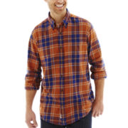 St. John's Bay® Long-Sleeve Legacy Plaid Flannel Shirt