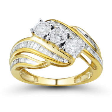 jcpenney.com | 1 CT. T.W. White 10K Gold Bridal Set