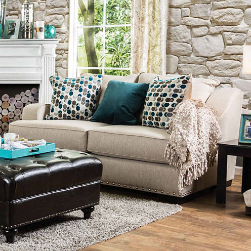 Candida Curved Slope-Arm Loveseat