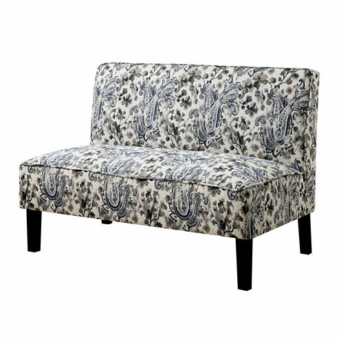 Cassidy Contemporary Fabric Settee