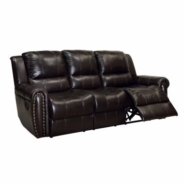 jcpenney.com | Harrison Transitional Leather Pad-Arm Sofa