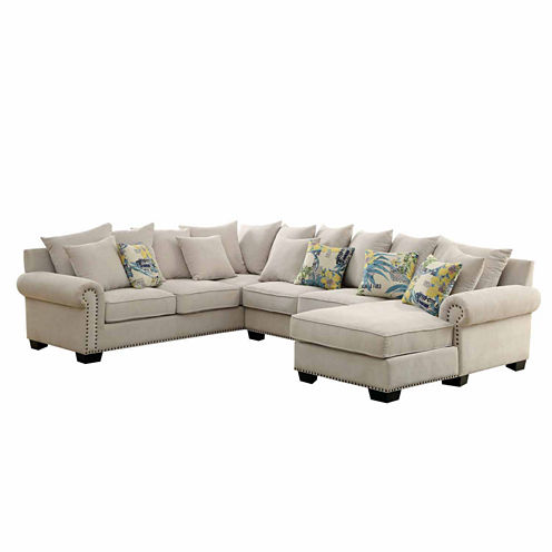 Selena Transitional Roll-Arm Sectional