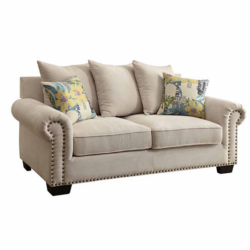 Ellis Transitional Roll-Arm Loveseat