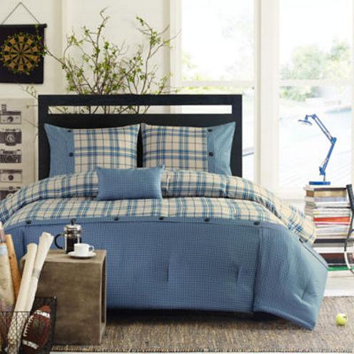 Intelligent Design Campbell Plaid Comforter Set + BONUS Decorative Pillow