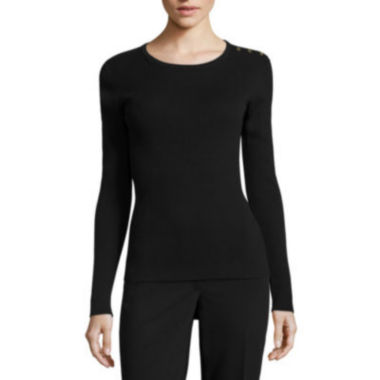 jcpenney.com | Liz Claiborne Long Sleeve Crew Neck Sweater-Talls
