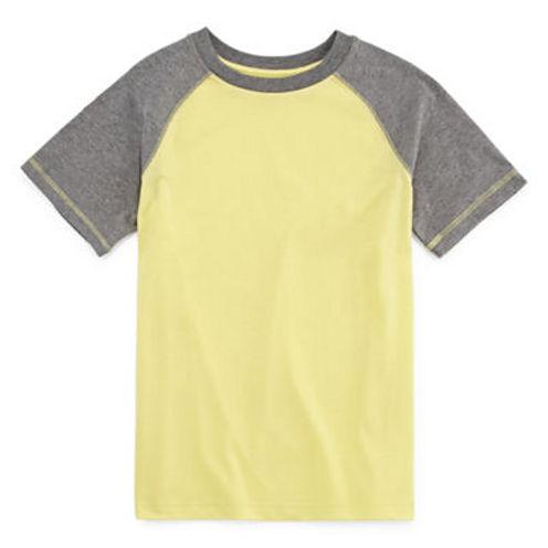 Arizona Short-Sleeve Solid Raglan Tee - Boys 8-20 and Husky