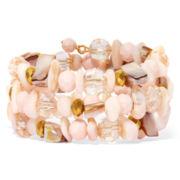 Mixit™ Peach Shell Coil Bracelet