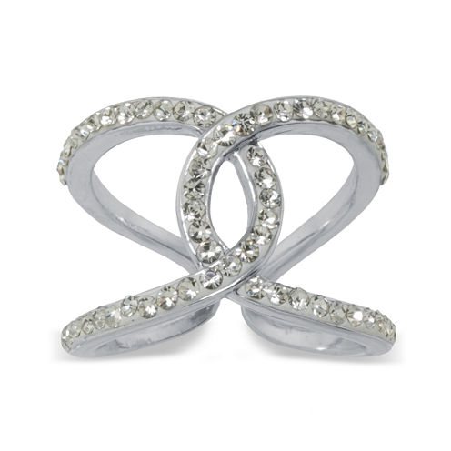 Sparkle Allure White Crystal Cocktail Ring
