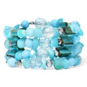 Mixit™ Aqua Shell Coil Bracelet
