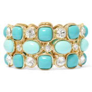 Monet® Aqua and Crystal Drama Bracelet