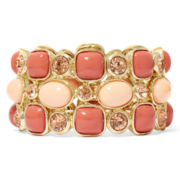 Monet® Coral Gold-Tone Drama Bracelet
