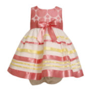 Bonnie Jean® Sleeveless Polka Dot and Stripe Dress - Girls 3m-24m