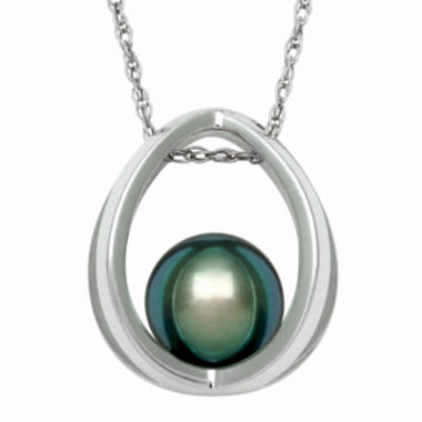 jcpenney.com | Genuine Tahitian Pearl Sterling Silver Suspended Pendant Necklace