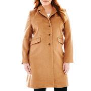Liz Claiborne® Wool-Blend Chesterfield Coat - Plus