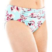 Liz Claiborne® Rose Print Retro Hipster Swim Bottoms