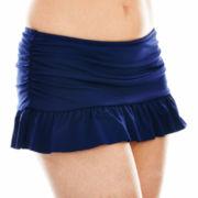 Liz Claiborne® Solid Skirted Swim Bottoms