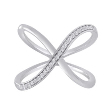 jcpenney.com | 1/10 CT. T.W. Diamond Sterling Silver Loop Ring