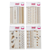 On The Verge 4-pc. Kids' Metallic Temporary Tattoos