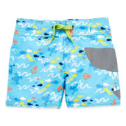 Candlesticks Shark Swim Trunks - Boys 3m-24m