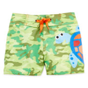 Candlesticks Turtle Swim Trunks - Boys 3m-24m