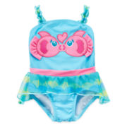 Candlesticks Kissing Fish Swimsuit - Girls 3m-24m