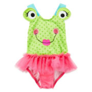 Candlesticks Froggie Swimsuit - Girls 12m-24m