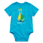 Okie Dokie® Short-Sleeve Graphic Knit Bodysuit - Boys newborn-9m