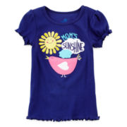 Okie Dokie® Short-Sleeve Rib-Knit Tee - Toddler Girls 2t-5t