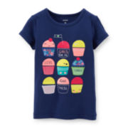 Carter's® Short-Sleeve Graphic Cupcake Tee – Girls 6-24m