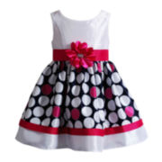 Youngland® Sleeveless Multi-Dot Dress – Girls 2t-4t