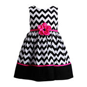 Youngland 174 Sleeveless Chevron Dress Girls 2t 4t