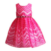 Youngland® Sleeveless Chevron Dress – Girls 2t-4t